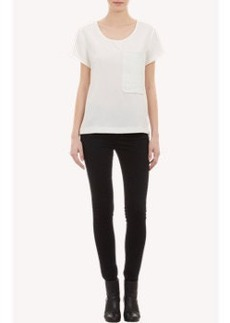 Rag & Bone Leather-Pocket Oversize T-Shirt