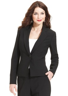 Anne Klein Petite Single-Button Tropical-Wool Blazer