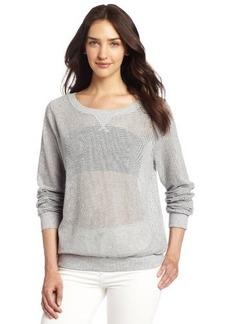 Michael Stars Women's Mesh Long Sleeve Sweatshirt