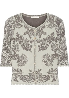 Zac Posen Stretch jacquard-knit cardigan