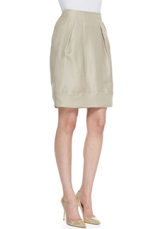 Lafayette 148 New York Jackie Pleated Silk Skirt