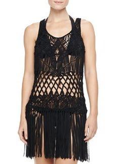 Nanette Lepore Macrame Sleeveless Dress Coverup