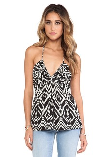 T-Bags LosAngeles V Neck Halter Top in Black & White