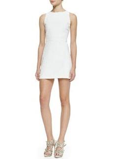 Sleeveless Cutout-Back A-Line Dress   Sleeveless Cutout-Back A-Line Dress