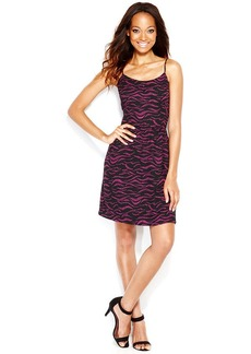kensie Spaghetti-Strap Printed Dress