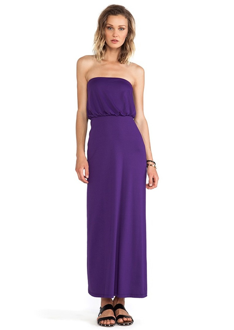 Susana Monaco Blouson Strapless Dress in Purple