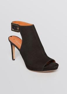 Via Spiga Open Toe Platform Booties - Nino High Heel