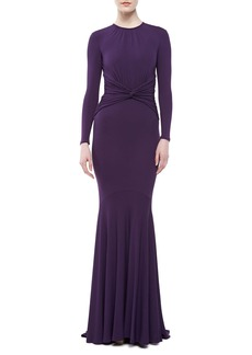 Michael Kors Matte Jersey Goddess Gown, Blackberry
