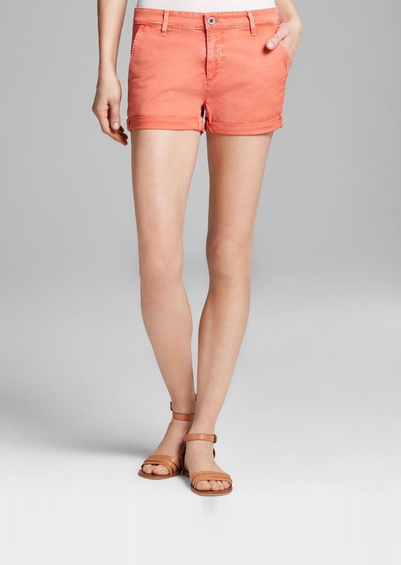 AG Adriano Goldschmied Shorts - Tristan High Rise in Sulfur Papaya