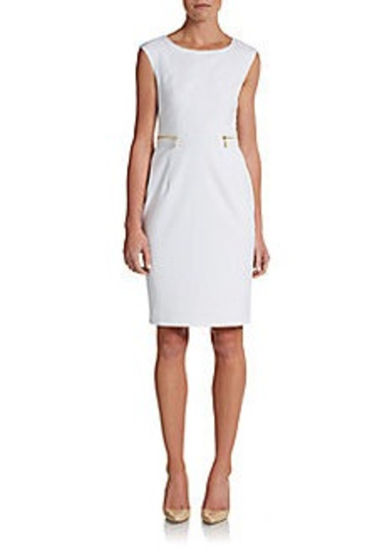 Calvin Klein Zip-Detailed Dress