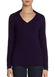 Lafayette 148 New York Framed V-neck Cashmere Sweater