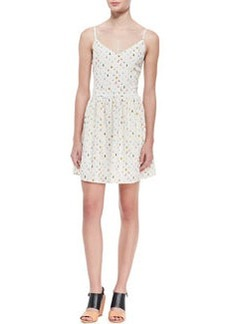 Joie Hudette Silk Bug-Print Sleeveless Dress