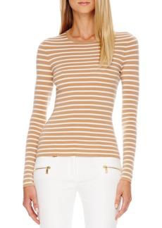Michael Kors Striped Cashmere Top