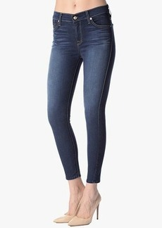 """The Mid Rise Cropped Skinny in Bright Blue Sateen (26"""" Inseam)"""