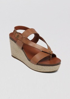 Lucky Brand Platform Wedge Espadrille Sandals - Naturale