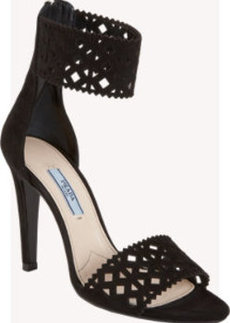 Prada Geometric-Cutout Ankle Cuff Sandal