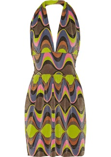 M Missoni Printed metallic jersey dress