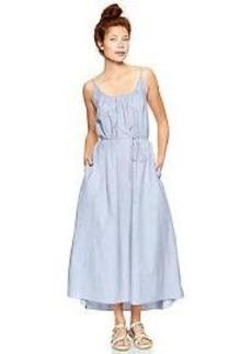 Low-back maxi dress