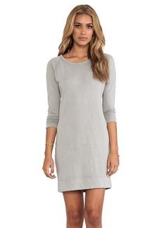 James Perse Raglan Sweatshirt Dress in Gray