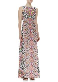 Mara Hoffman Back-Keyhole Printed Gown