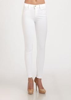 J Brand Maria High-Rise Skinny Jeans/Blanc