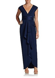 Catherine Malandrino Draped Silk Goddess Gown