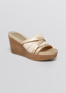 Donald J Pliner Open Toe Platform Wedge Sandals - Jean