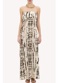 Twelfth Street by Cynthia Vincent Abstract-Print Strapless Maxi Dress