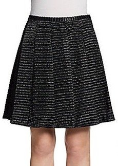 Jill Stuart Textured Striped Skirt