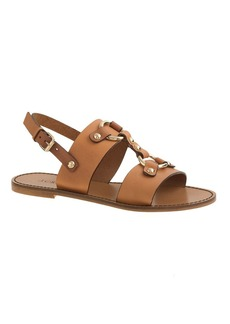 Equestrian slingback sandals