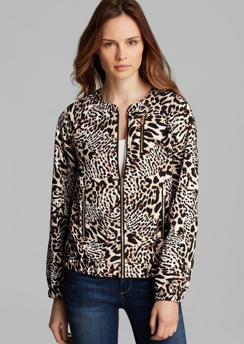 Calvin Klein Animal Print Bomber Jacket