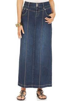 Style&co. Denim Maxi Skirt, Oxford Wash