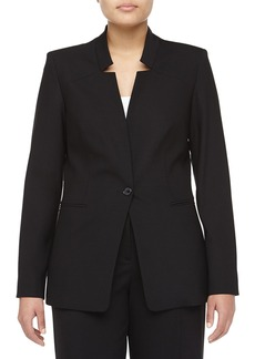 Michael Kors Cutout Lapel Bias-Cut Wool Jacket, Women's