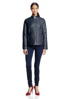 Elie Tahari Women's Rosemary Zip Front Quilt Jacket