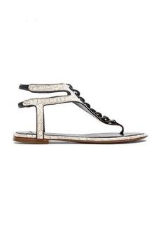 DEREK LAM 10 CROSBY Damast Sandal in White
