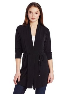 Calvin Klein Women's Long-Sleeve Self-Tie Cardigan Sweater