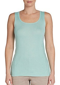 Escada Sport Ribbed Knit Studded Tank Top