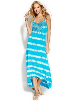 INC International Concepts Petite Tie-Dye Sequined Maxi Dress