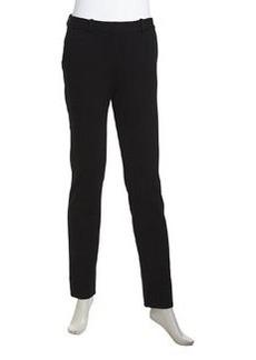Diane von Furstenberg Libbie Stretch-Knit Slim Pants, Black