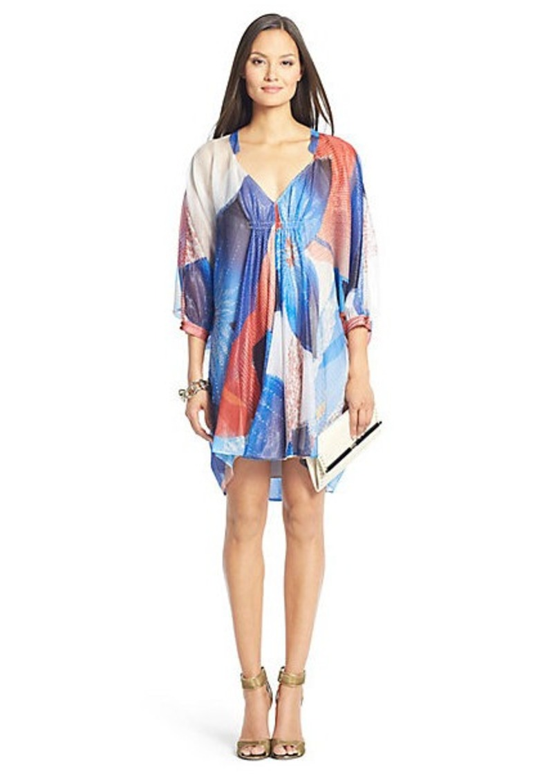 Fleurette Printed Chiffon Kaftan Dress