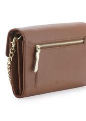 Foley + Corinna Handle-Embossed Wallet Crossbody, Brown