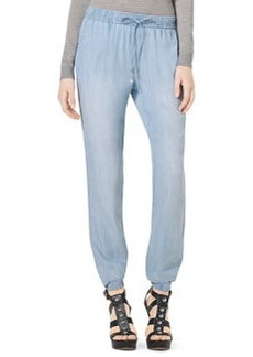 MICHAEL Michael Kors Pull-On Chambray Track Pants