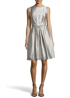 Escada Docus Silk Pleated Dress, Shadow