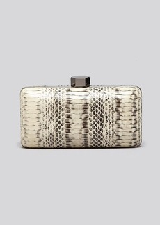 MILLY Clutch - Mercer Watersnake Minaudiere