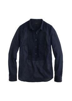 Swiss-dot tuxedo shirt