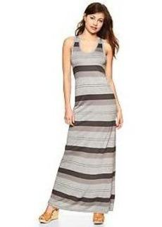 Stripe twist-back maxi dress