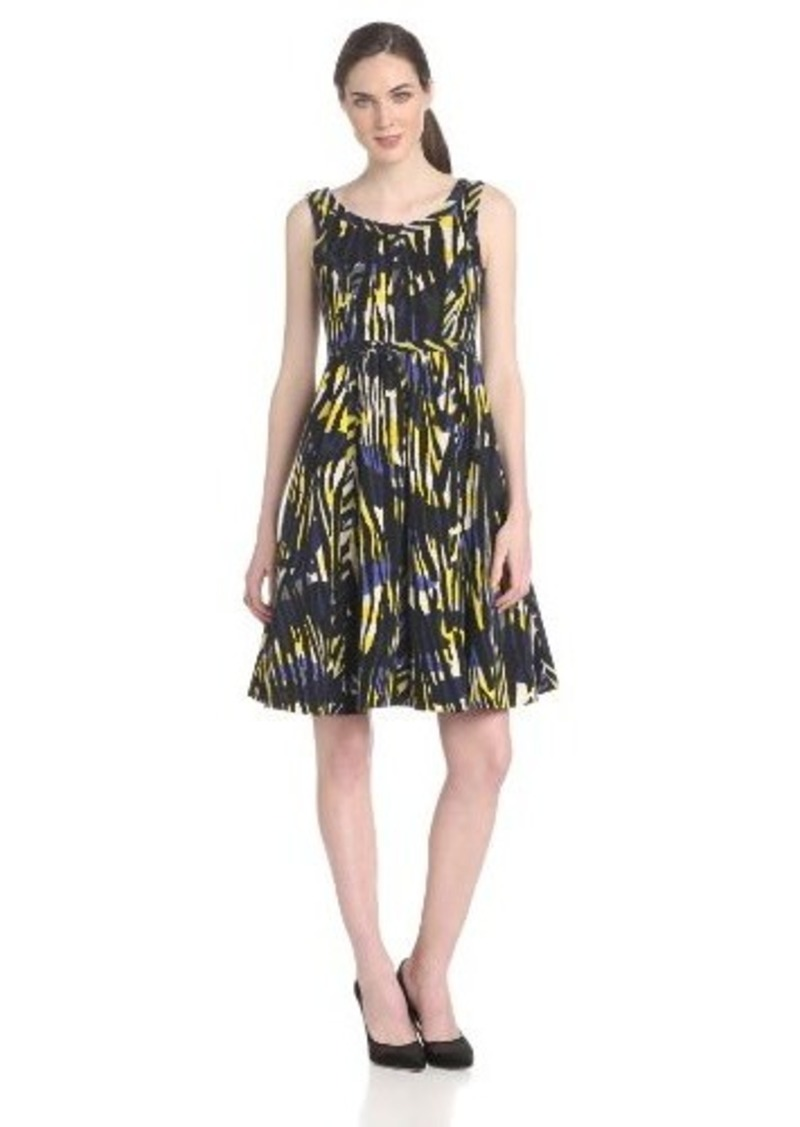 Tracy Reese Women's Modern Camo-Print Sleeveless Fit-and-Flare Dress