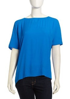 Diane von Furstenberg New Hanky Crepe Blouse, Blue