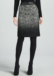 Lafayette 148 New York Bruana Leather-Waist Skirt