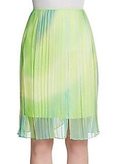 Elie Tahari Helena Pleated silk Skirt